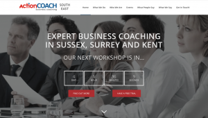 Website for business coaching events