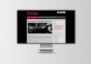music band website design