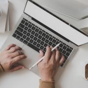 Marketing work laptop